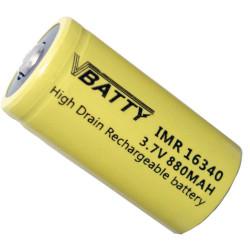 akumulatorek CR 123 a 3,7v 880 mAh RCR 16340 Lithium CR17345