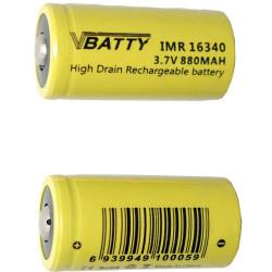 2x bateria akumulatorek CR123a 3,0 V 1200 mAh nowy RCR 16340 Li-ion Lithium