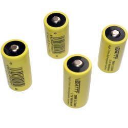 4x bateria akumulator CR 123 a 3.0 V 1200 mAh nowy RCR 16340 CR-17345 Li-ion Lithium
