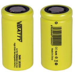 zestaw 2 baterii IMR 18350 3.7 v 700 mAh 10,5A CE