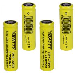 4x Akumulatorek R6 ogniwo bateria IMR 14500 3 7 v 880 mAh 12A CE