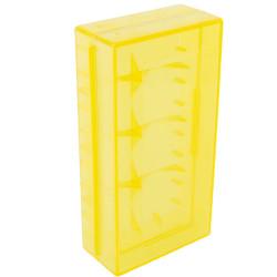 Pudełko na baterie CR 123 A przezroczyste 18650 17670 16340 żółte