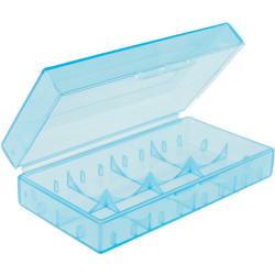Pudełko na baterie CR 123 A przezroczyste 18650 17670 16340 niebieskie