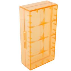 Pudełko na baterie CR 123 A przezroczyste 18650 17670 16340 pomarańczowe