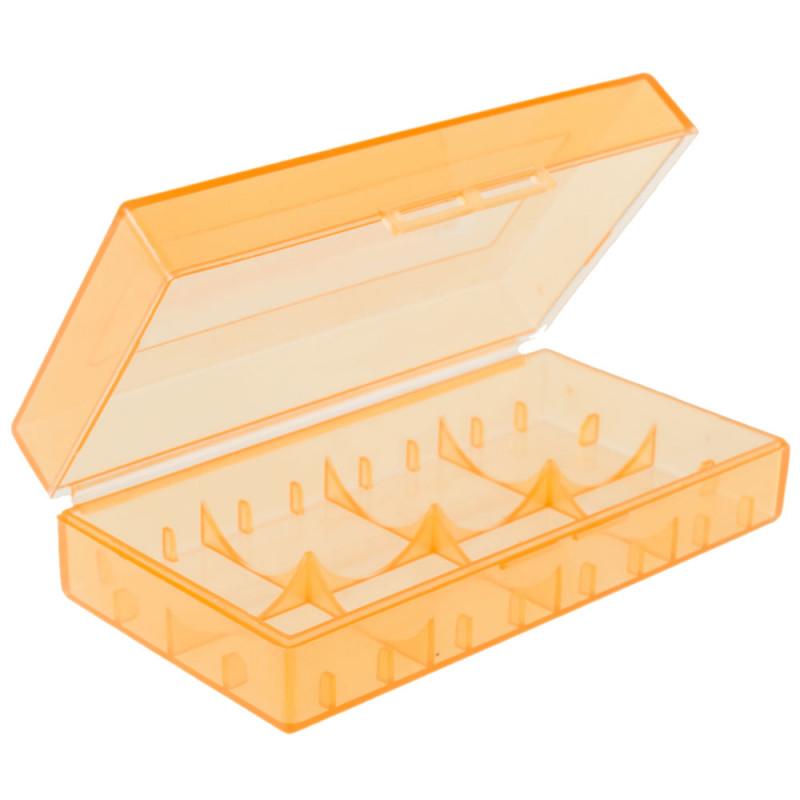 Pomarańczowe pudełko na akumulatorki cr123 18650 17670 16340
