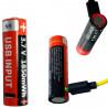 Akumulator bateria 14500 AA R6 LR6 USB 1850 mWh 3,7v litowy nowy gwarancja