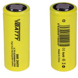 zestaw 2x bateria IMR 26650 3.7 v 4200 mAh 50A CE